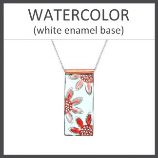Watercolor White Enamel
